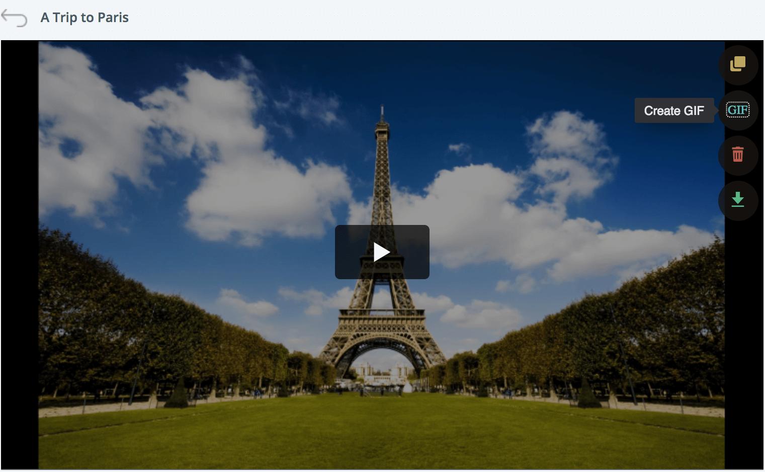 Convert videos to GIFs